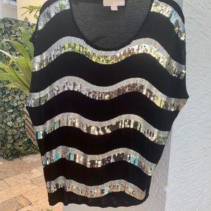 Michael Kors sequined black top